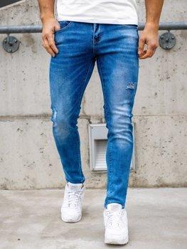 Tmavě modré pánské džíny skinny fit Bolf KX388