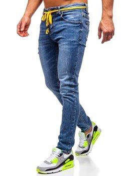 Tmavě modré pánské džíny skinny fit Bolf KX565