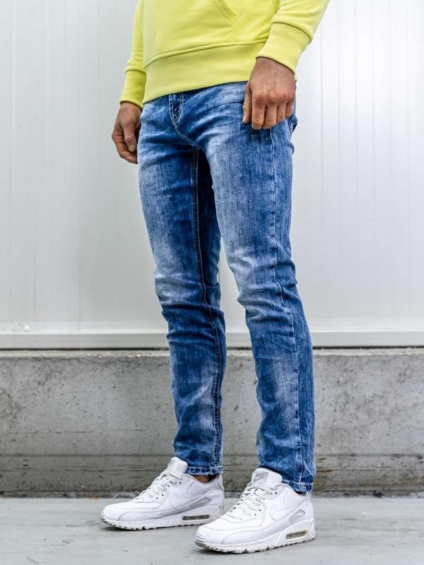 Tmavě modré pánské džíny straight leg Bolf KA1581