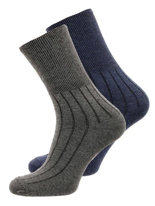 Tmavě modro-šedé pánské ponožky Bolf X10014-2P 2 PACK