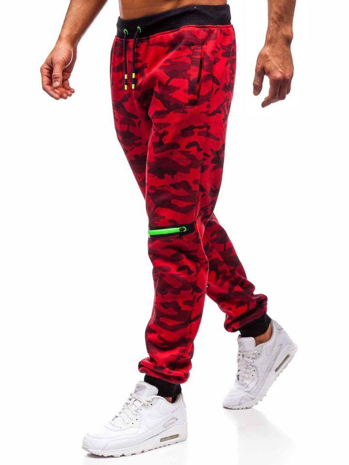 Červené pánské jogger tepláky Bolf 55028 c10398c7efa