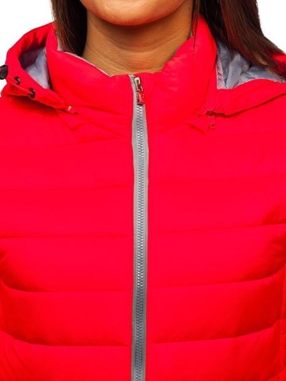 Růžová dámská přechodová bunda Bolf AB054