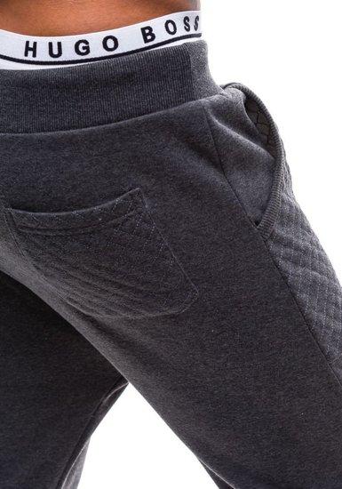 Antracitové pánské baggy kalhoty Bolf K11