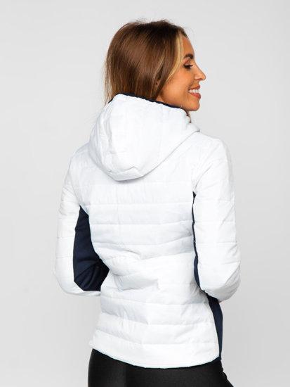 Bílá dámská sportovní přechodová bunda Bolf KSW4006