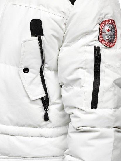 Bílá pánská zimní bunda Bolf 5948