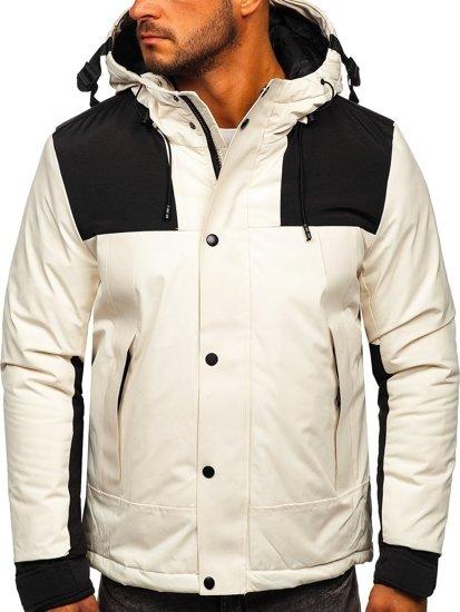 Bílá pánská zimní bunda Bolf J1905