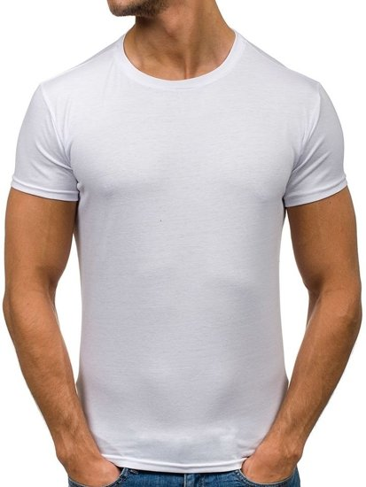 Bílé pánské tričko bez potisku Bolf 2011