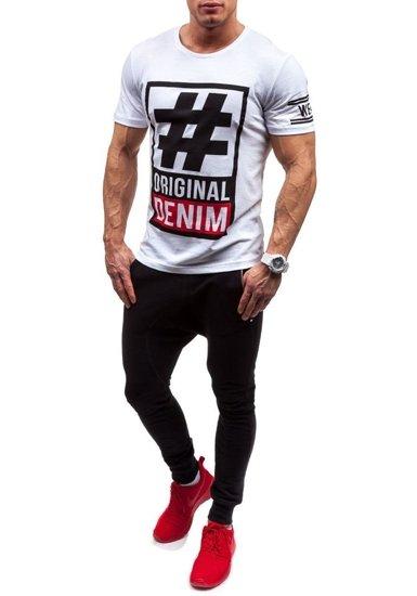 Bílé pánské tričko s potiskem Bolf CMR20