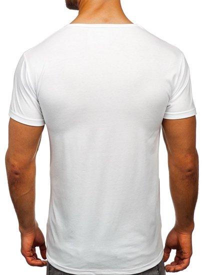 Bílé pánské tričko s potiskem Bolf KS1957