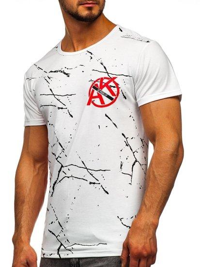 Bílé pánské tričko s potiskem Bolf KS1973