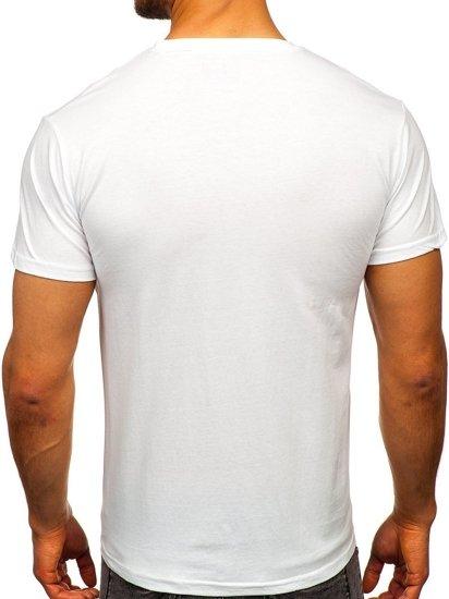 Bílé pánské tričko s potiskem Bolf KS2107