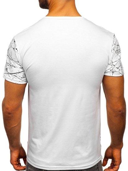 Bílé pánské tričko s potiskem Bolf SS10916