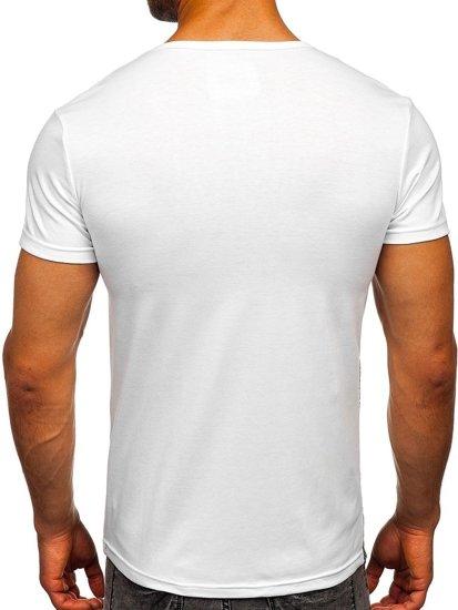 Bílé pánské tričko s potiskem Bolf SS392