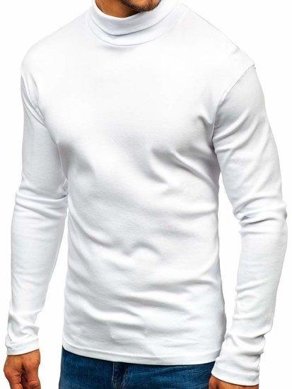 Bílý pánský rolák bez potisku Bolf 145347