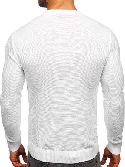 Bílý pánský svetr Bolf 312