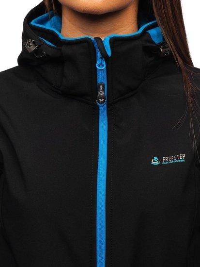 Černá dámská přechodová softshellová bunda Bolf AB056