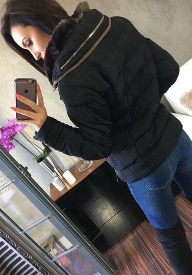 Černá dámská zimní bunda Bolf 16