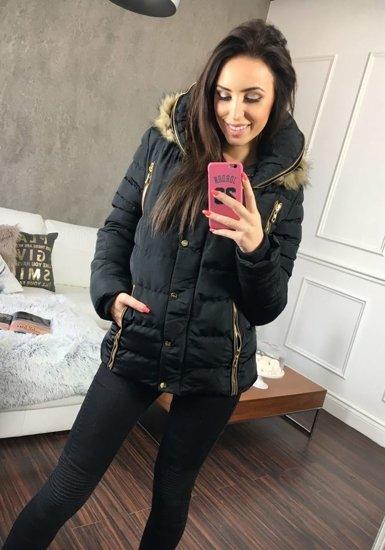 Černá dámská zimní bunda Bolf 21