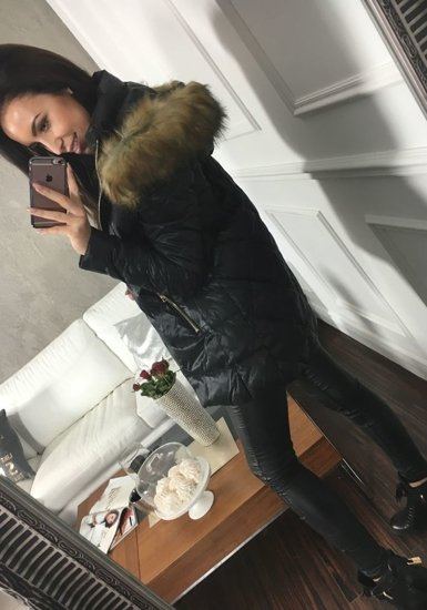 Černá dámská zimní bunda Bolf 8070
