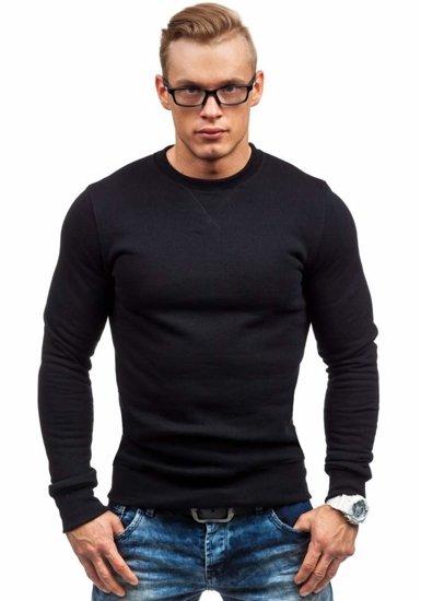 Černá pánská mikina bez kapuce Bolf 44S