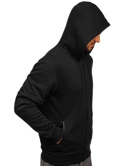 Černá pánská mikina na zip s kapucí Bolf JX9773