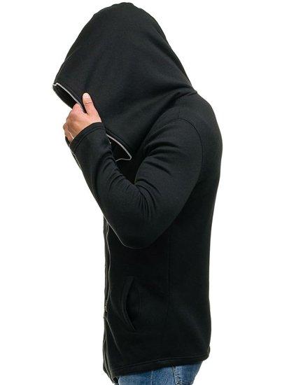 Černá pánská mikina s kapucí Bolf Y36-2