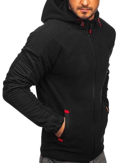 Černá pánská mikina s kapucí Bolf YL002