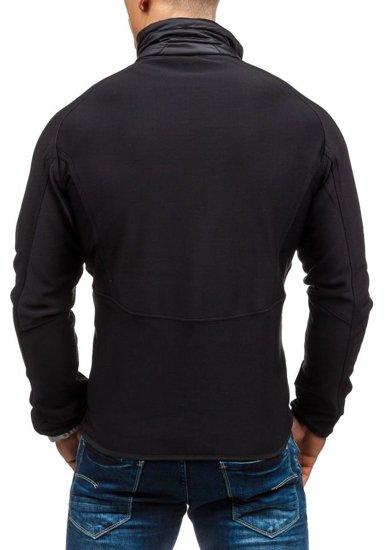 Černá pánská softshellová bunda Bolf S015