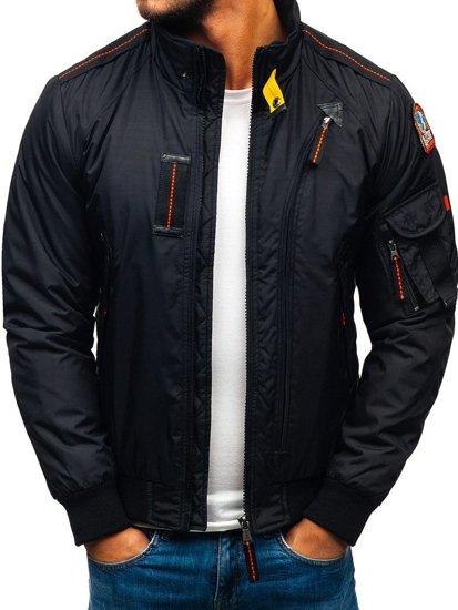 Černá pánská přechodová bunda Bolf 4944