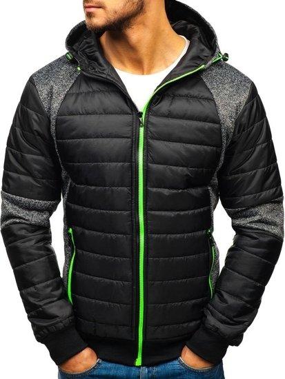 Černá pánská přechodová bunda Bolf TY01