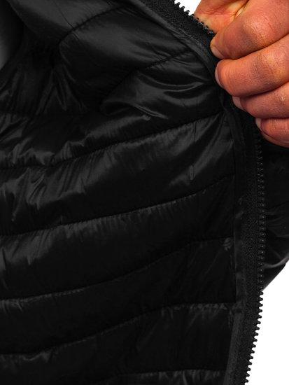 Černá pánská prošívaná přechodová bunda Bolf LY33