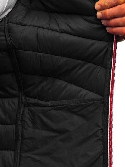 Černá pánská sportovní přechodová bunda Bolf LY1015
