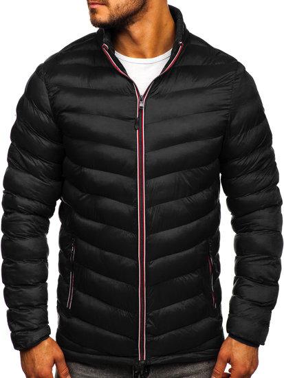 Černá pánská sportovní zimní bunda Bolf SM71