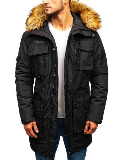 Černá pánská zimní bunda Bolf 201812