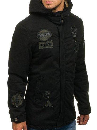 Černá pánská zimní bunda Bolf 4693