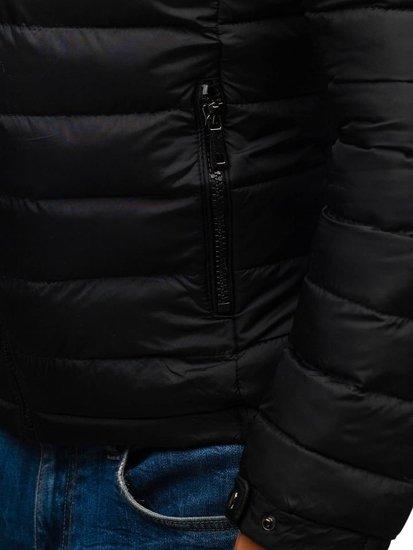 Černá pánská zimní bunda Bolf A181