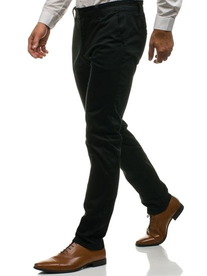 Černé pánské chino kalhoty Bolf 6807
