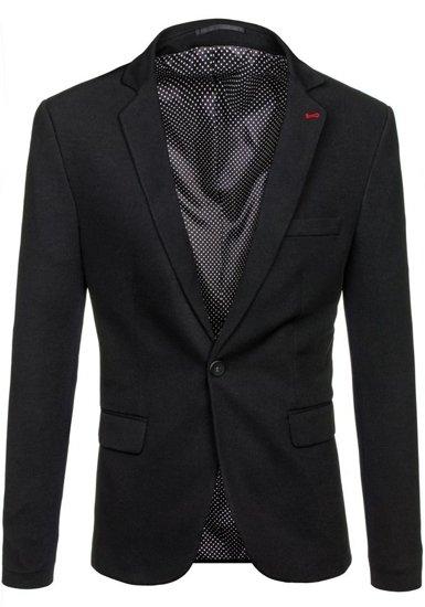 Černé pánské elegantní sako Bolf 072