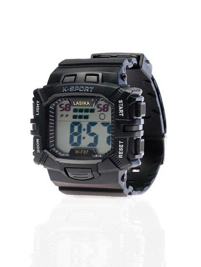 Černé pánské hodinky Bolf WF87