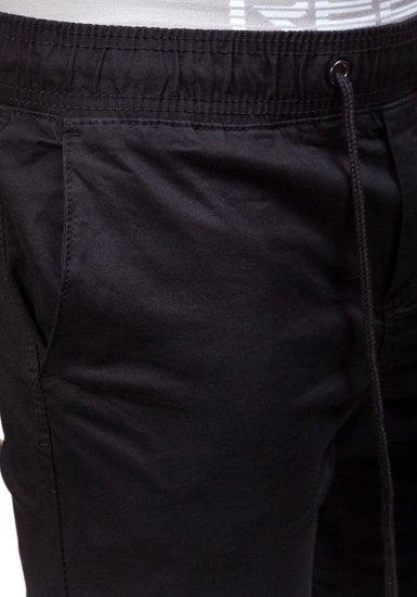 Černé pánské jogger kalhoty Bolf 8765