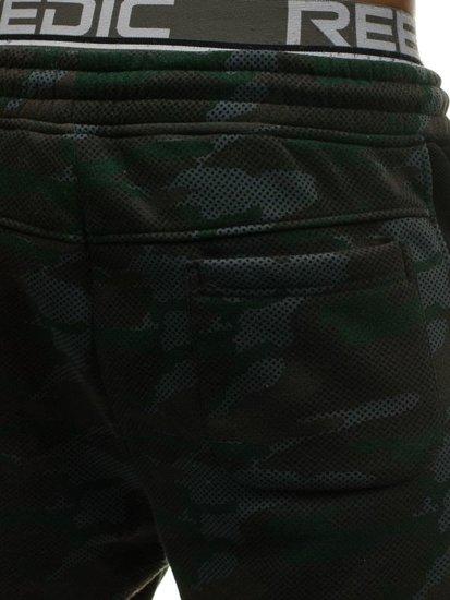 Černé pánské maskáčové tepláky Bolf 3782