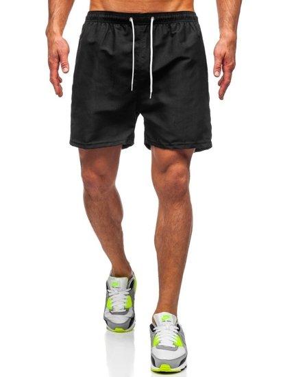 Černé pánské plavecké šortky Bolf ST001