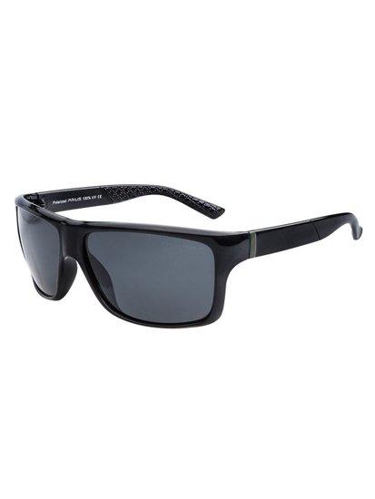 Černé pánské sluneční polarizační brýle Bolf PLS402