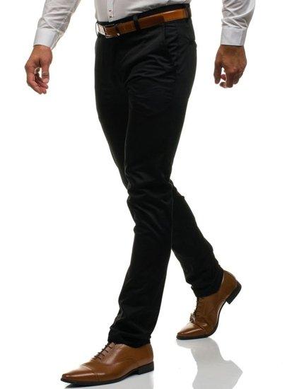 Černé pánské společenské kalhoty Bolf 0204