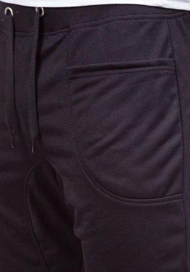 Černé pánské tepláky baggy Bolf 6016