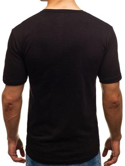 Černé pánské tričko s potiskem Bolf 6294