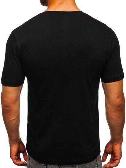 Černé pánské tričko s potiskem Bolf 6303