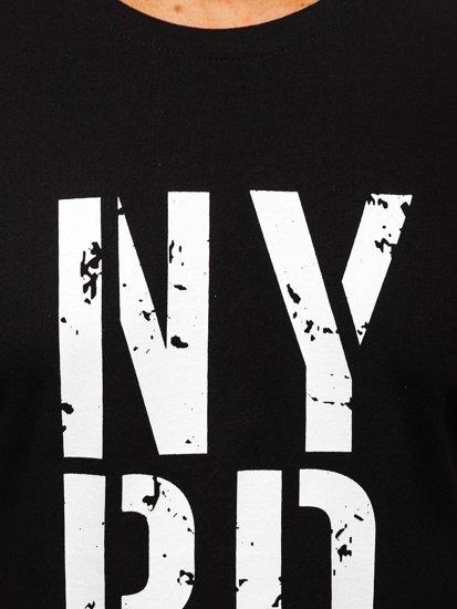 Černé pánské tričko s potiskem Bolf 6306