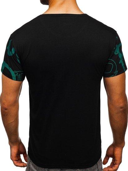 Černé pánské tričko s potiskem Bolf KS1972