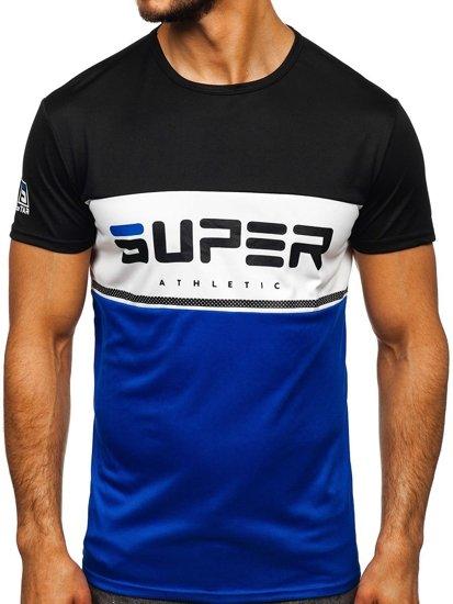 Černé pánské tričko s potiskem Bolf SS10991
